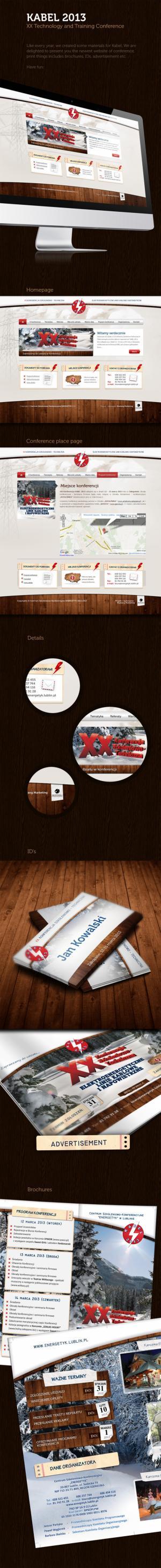 Projekt strony www dla Kabel 2013 - Warszawa