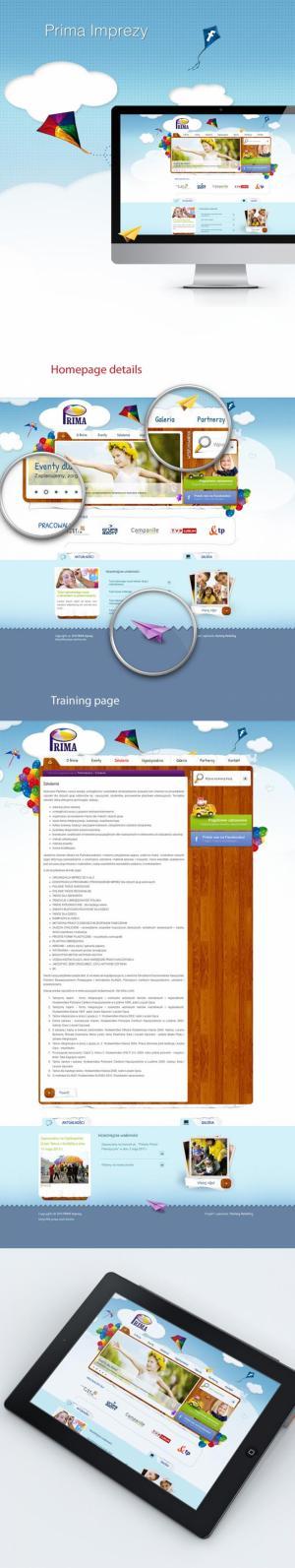 Projekt strony www dla Prima Imprezy - Lublin