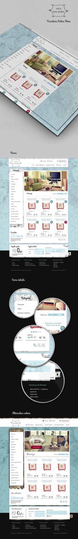 Sklep internetowy dla MIA home passion - Warszawa